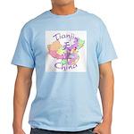 Tianjin China Map Light T-Shirt