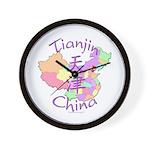 Tianjin China Map Wall Clock