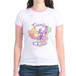 Tianjin China Map Jr. Ringer T-Shirt