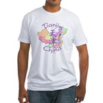 Tianjin China Map Fitted T-Shirt