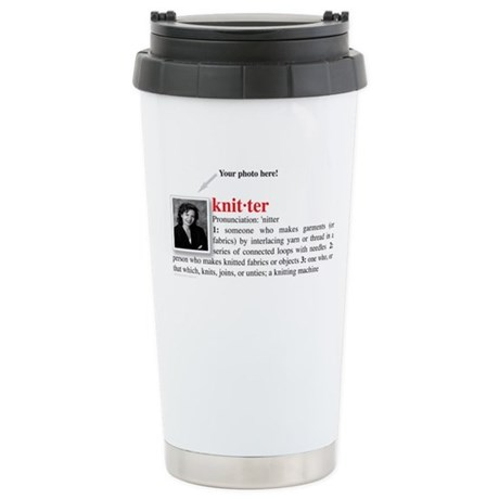 Definition of a Knitter Stainless Steel Travel Mug