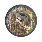 Squirrel Among Branches Wall Clock
