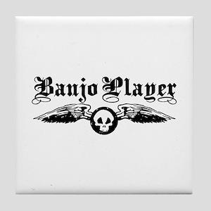 Banjo Player Tile Coaster