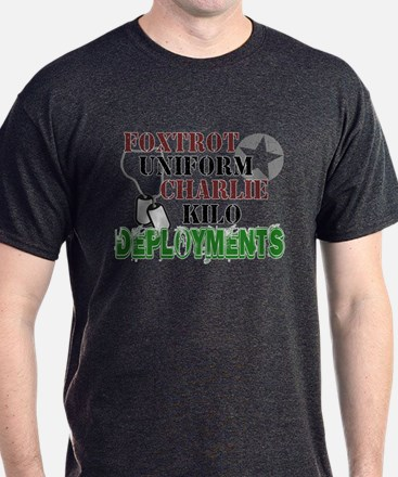 Foxtrot Uniform Charlie Kilo Deployments T-Shirt