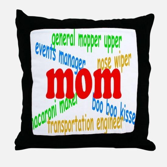 Supermom Throw Pillow