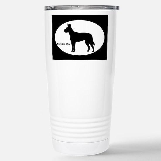 Carolina Dog Silhouette Stainless Steel Travel Mug