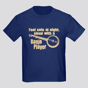 Feel Safe with a Banjo Player Kids Dark T-Shirt