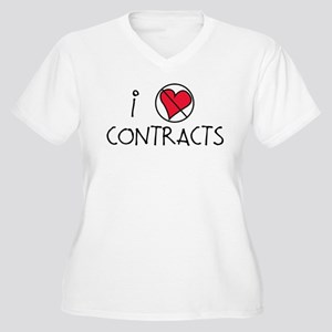 I Luv Contracts Women's Plus Size V-Neck T-Shirt