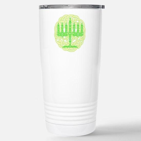 Celtic Menorah Stainless Steel Travel Mug