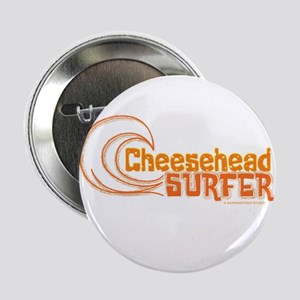 "CheeseHead Surfer Wave 2.25"" Button"