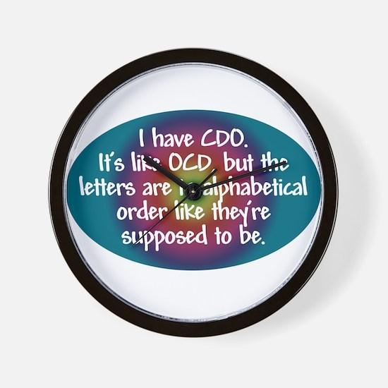 OCD / CDO spectrum Wall Clock