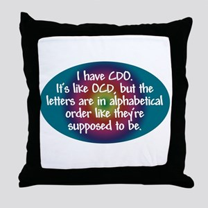 OCD / CDO spectrum Throw Pillow