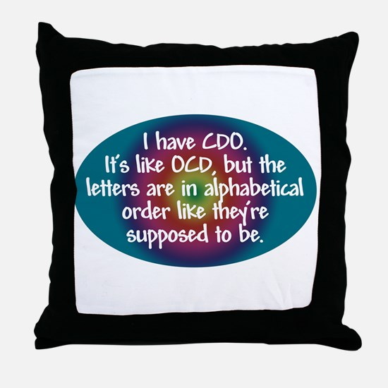 OCD / CDO spectrum Throw Pillow