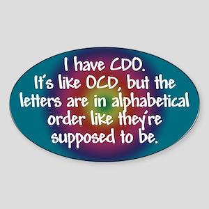 OCD / CDO spectrum Oval Sticker