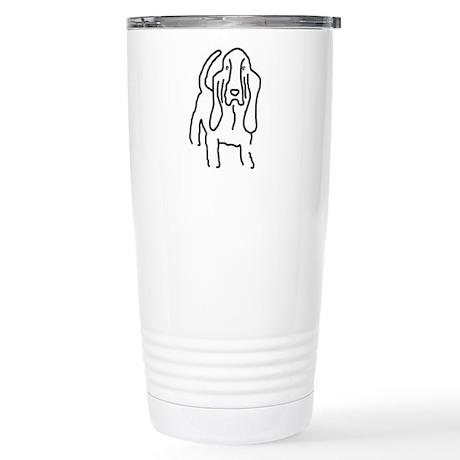 Basset Sketch Stainless Steel Travel Mug