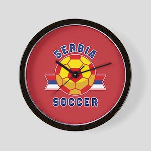 Serbia Soccer Wall Clock