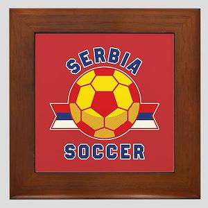 Serbia Soccer Framed Tile