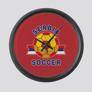Serbia Soccer Large Wall Clock