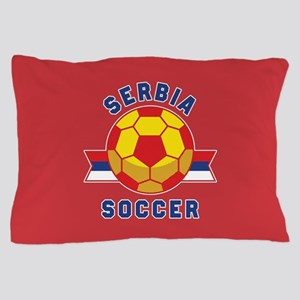 Serbia Soccer Pillow Case