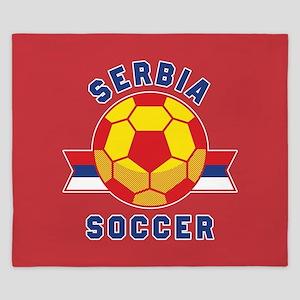 Serbia Soccer King Duvet