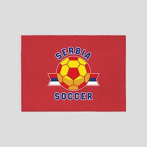 Serbia Soccer 5'x7'Area Rug