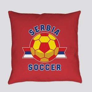 Serbia Soccer Everyday Pillow