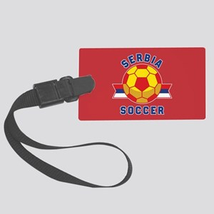 Serbia Soccer Large Luggage Tag