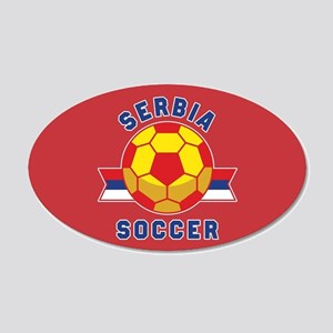 Serbia Soccer 20x12 Oval Wall Decal