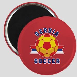 Serbia Soccer Magnet