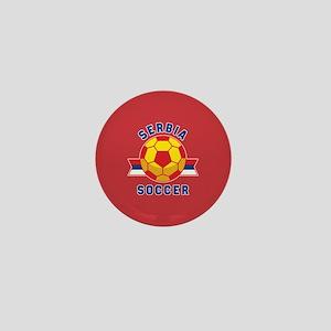Serbia Soccer Mini Button