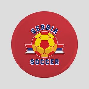 "Serbia Soccer 3.5"" Button"