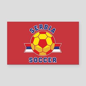 Serbia Soccer Rectangle Car Magnet