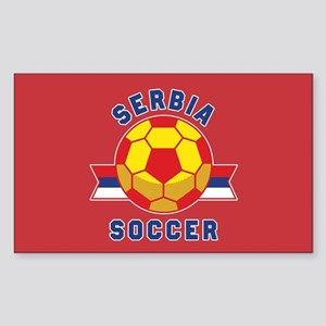 Serbia Soccer Sticker (Rectangle)