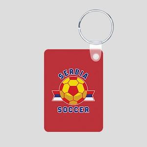 Serbia Soccer Aluminum Photo Keychain
