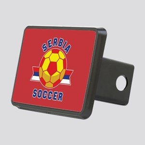 Serbia Soccer Rectangular Hitch Cover