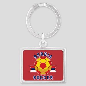 Serbia Soccer Landscape Keychain