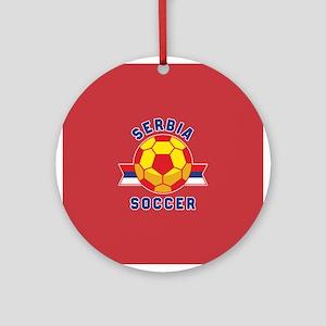 Serbia Soccer Round Ornament