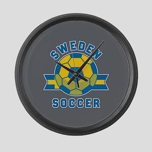 Sweden Soccer Large Wall Clock