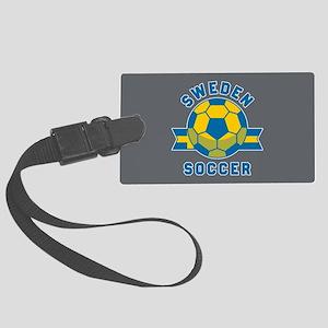 Sweden Soccer Large Luggage Tag