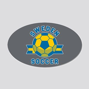 Sweden Soccer 20x12 Oval Wall Decal