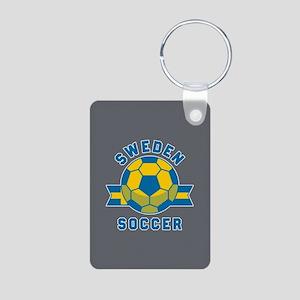 Sweden Soccer Aluminum Photo Keychain