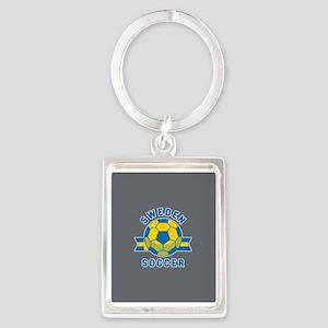 Sweden Soccer Portrait Keychain