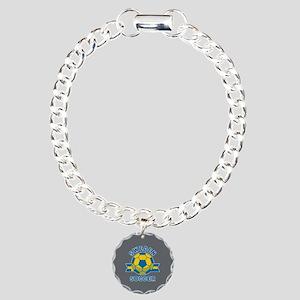 Sweden Soccer Charm Bracelet, One Charm
