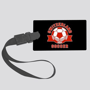 Switzerland Soccer Large Luggage Tag