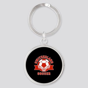 Switzerland Soccer Round Keychain