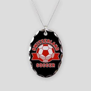 Switzerland Soccer Necklace Oval Charm