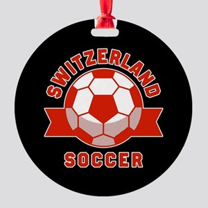 Switzerland Soccer Round Ornament