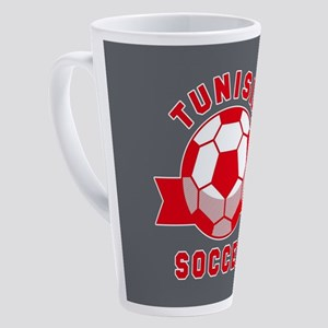 Tunisia Soccer 17 oz Latte Mug