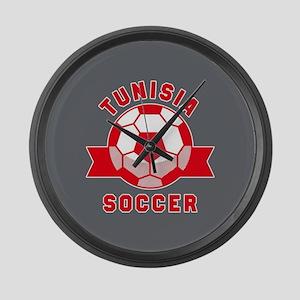 Tunisia Soccer Large Wall Clock