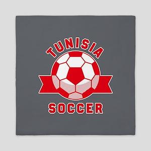 Tunisia Soccer Queen Duvet